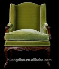 antique leisure chair fabric antique armchair sofa vintage furniture AO6030