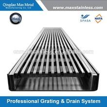 Stainless steel linear floor drain grates