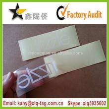 2015 Wholesale custom printing full color pet/pvc/pp transparent sticker