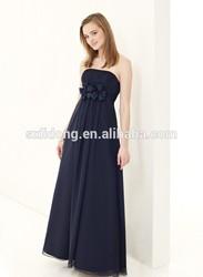 2015 New Trendy Women's Pleated Peplum Flowy Chiffon Long Evening Dresses