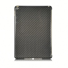 Wholesale Hot Selling Universal Grey Stripe Simple Design Carbon Fiber Case for iPad Air 2