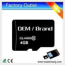 Hot sell 4gb micro memory sd card unlocker wholesale