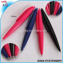 Short plastic pen twist mechanisms