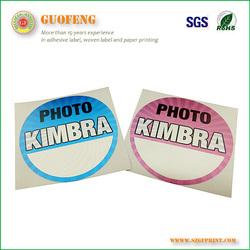 2015 Best price High quality custom printed labels tag vinyl stickers self adhesive labels in printing