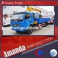 Xcmg 3 - 4 ton segunda mano de la grúa, Dongfeng 4 * 2 124hp pequeño montado en un camión grúa móvil
