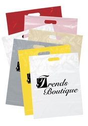Colorful Die -cut Shopping Plastic Bag