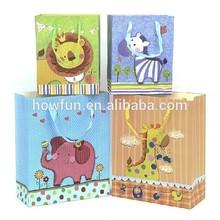 Trendy Lovely Cartoon Animals Paper Shopping Bag