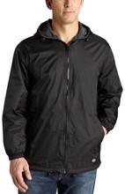 100% Rip-Stop Nylon Men's Fleece Lined Hooded Jacket