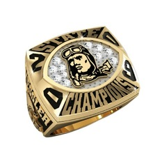Wholesale stainless steel/brass championship ring football stone champions ring
