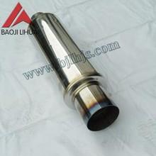 motorcycle titanium exhaust muffler 89mm length 1mm thickness