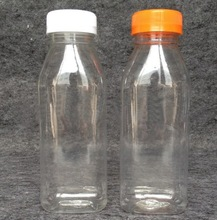 High quality 300ML pet plastic round juice bottle