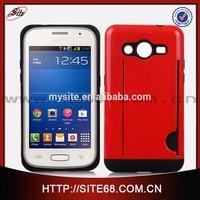 PC TPU Hybrid combo case caso de telephone portable for Samsung G355
