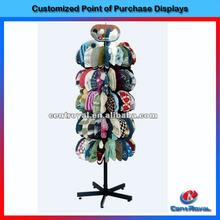 Wholesale retail store or supermarket metal hat display stand