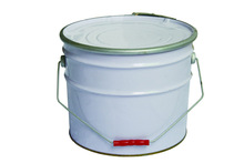 10L round metal chemical paint bucket with handle dishcover