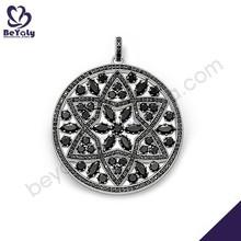 nuovo design 2015 pendente ingrosso argento collana di corallo nero
