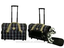 Nuovo arrivo vettore pieghevole da compagnia/cane vettore/trasportino per gatti con ruote