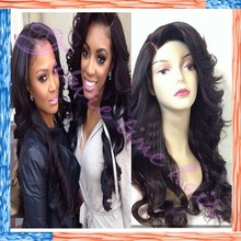 2015 new!!Hot selling loose wave glueless full lace wig brazilian virgin hair with baby hair for black women
