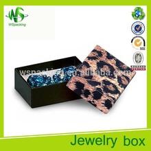 Lembranças de casamento de moda para os hóspedes presente caixas estampa de leopardo