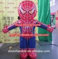 Publicidad inflable spiderman/inflable en movimiento de dibujos animados de spiderman/traje inflable cartoong