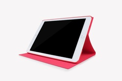 "Ultra thin PU Leather Case for iPad Air 2 9.7"" Stand Function Cover for iPad 5 Red color New Arrival"