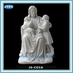 Large Famous White Stone Religious Jesus Statue