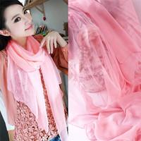 Fashionable cheap glossy raw silk scarf