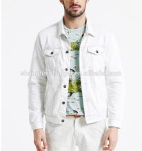 2015 newest style mens white denim jacket