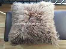 Special Indian Mongolian Lambskin Long Hair Cushion Crochet Soft Covers