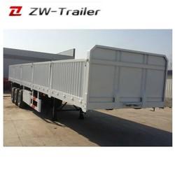 3 Axles 60ton Stepwise Open Fence Truck Cargo Utility Side Wall Semi Trailer
