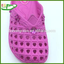 2015 Newest EVA bath beading slipper factory EGA0302-07 Sexy Pink peach hearts holes