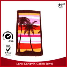 cotton towel fabric 100% cotton bath towel velour reactive printed colorful stripe bath towel