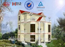 3-storeys Prefab Light Gauge steel villa building