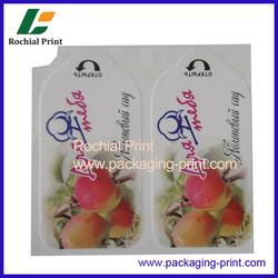 Moisture proof adhesive juice label printing