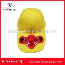custom muti color cotton solar cooling fan cap