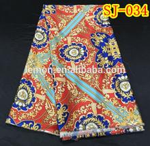 100% silk material satin silk fabric for African women SJ-034