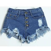 Women Acid Wash Shorts Or Short cheap high waist jean shorts SV002567