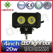 20W A series mini led light bars for atv single row sliding bracket off road truck light bar