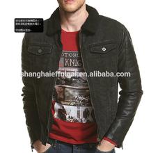black fur lined denim jacket