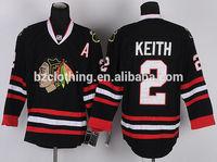 Duncan Keith #2 Chicago Blackhawks Black Ice Hockey Jerseys