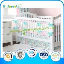 Colorful Circle Print Baby Crib Bedding 100% Cotton