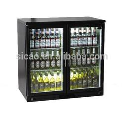 SICAO Compressor R600a 208L single glass door bar fridge