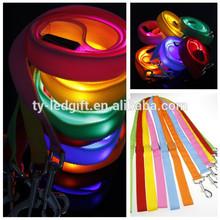 led dog pet collar leash adjustable custom promotion pet collar leash