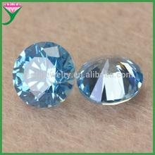 hot sale brilliant cut Aquamarine Round zircon stone