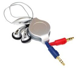 RETRACTABLE HEADSET HANDS-FREE HEADPHONES EARPHONES EARBUDS WITH MIC for Apple iPhone 5/ 5s/ 5c / 6 / 6 Plus / iPod 7 / iPad