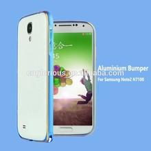 Ultra thin aluminum bumper case for samsung galaxy note 2 n7100