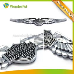 Automotive Black Painted Sliver Chrome Plastic Car Emblem Wings