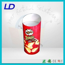 High quality attractive easy-assembling paper shelf fruit salad floor display with 8 years Experience