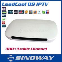 2015 New Arabic IPTV Android 4.4 Quad-Core DDR 1GB Build in 8GB flash Arabic Turkish IPTV Q9 android tv box IPTV Box in STOCK