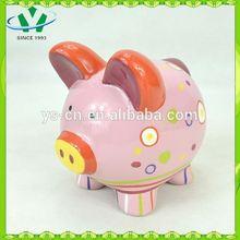New pig design ceramic pottery money bank YScb0001-07