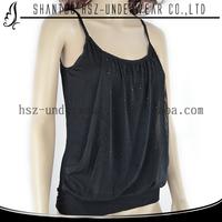 Fashion design wholesale cheap plus size women clothing chiffon lady black lace blouse tank tops for women in bulk